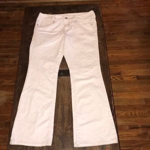 American Eagle Original Boot Stretch White Jeans